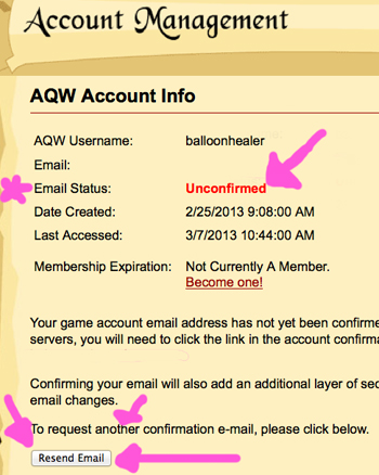 how to resend your email confirmation