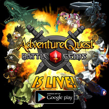 New iOS Android game Adventure Quest Battle Gems Battle On