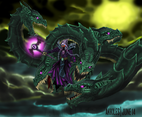 Akkiles Escherion hydra fan art