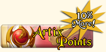 Earn 10 percent more Artix Points when you buy with a credit card