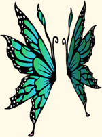 Emerald Maripose Wings