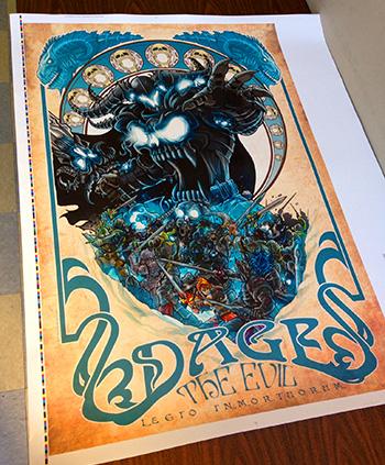 Dage Art Nouveau Poster Test Print