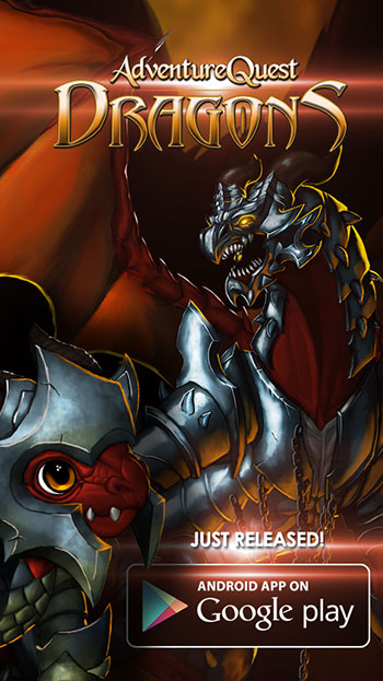 AdventureQuest Dragons for Android on the Google App Store