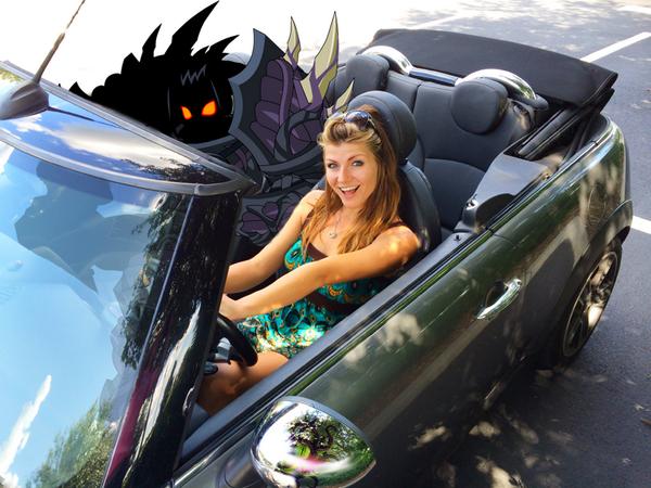 drakath beleen in real life car convertible