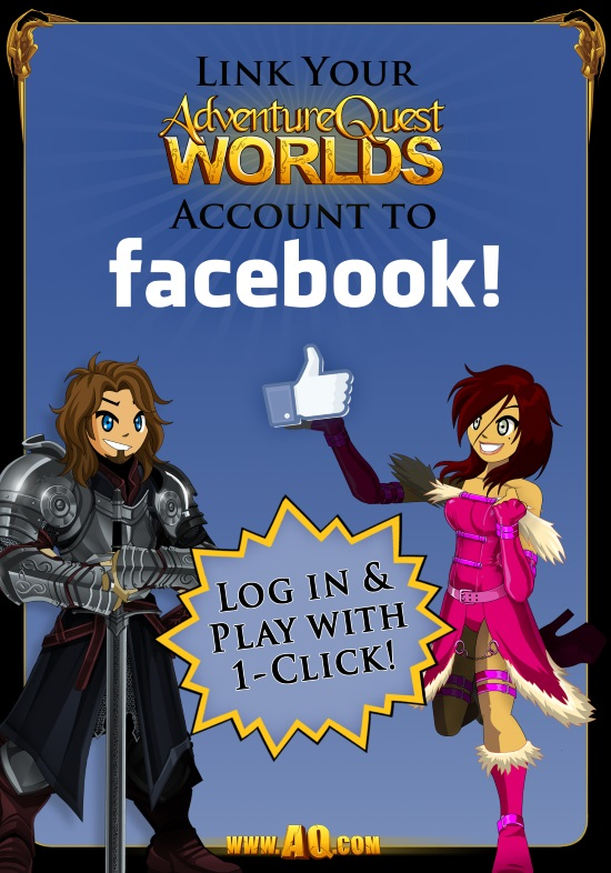 Facebook game connect online adventure game