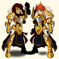 Gilded Champion armor set in kids games online