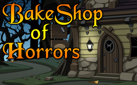 Halloween bake shop in online adventure game