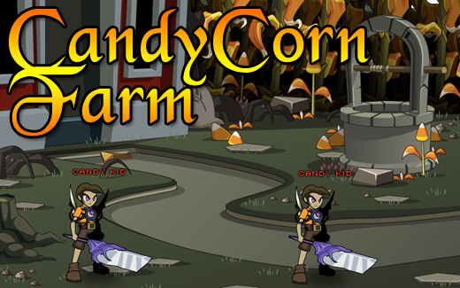 Halloween in the Candy Corn Farm