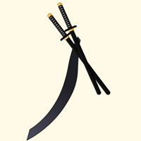 Katana cape shinobi ninja flash game