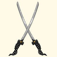dual katanas ninja shinobi dragon games