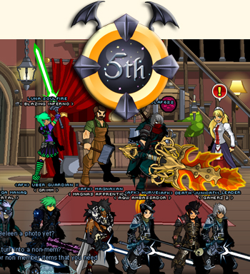 Luna Soulfire and friends in online video game AdventureQuest Worlds