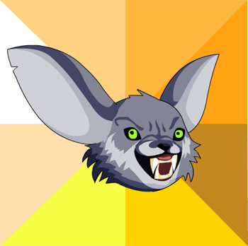 Courage wolf meme in online adventure game