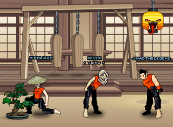 Ninja Warrior Training in online adventure game