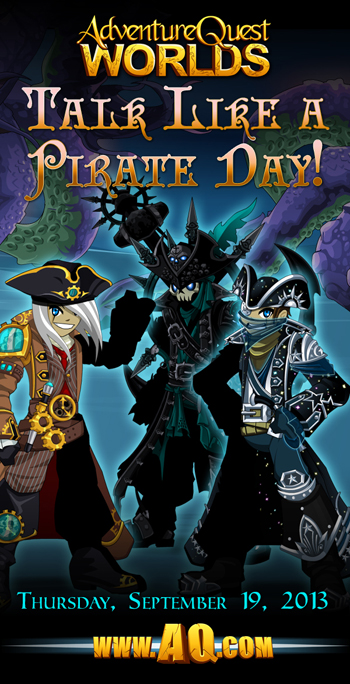 Talk Like a Pirate Day in video game AdventureQuest Worlds