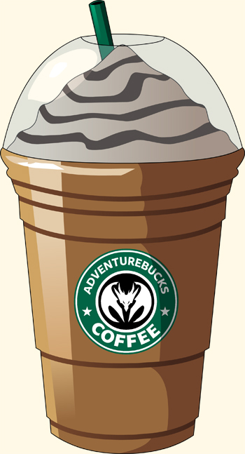 AdventureBucks Frappuchino coffee