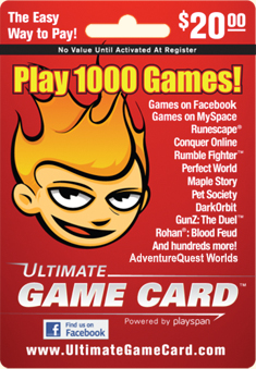 Ultimate Game Card for online fantasy game AdventureQuest Worlds