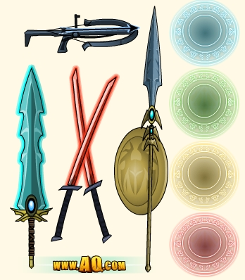 Rare weapons and capes of Nulgath