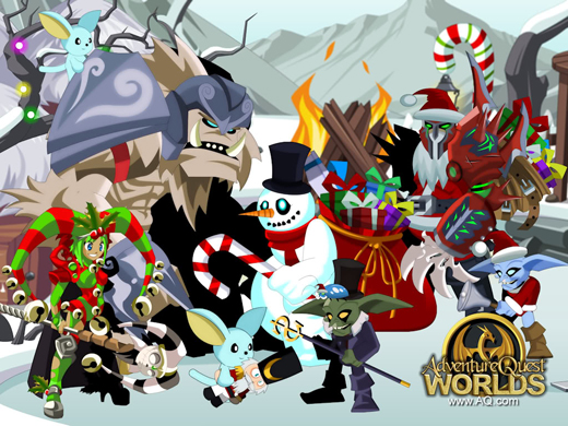 Happy Frostval Holiday from Frostvale in AQWorlds