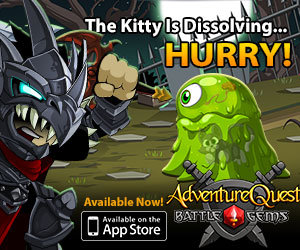 Battle Gems... Kitty is Disolving.. HURRY!