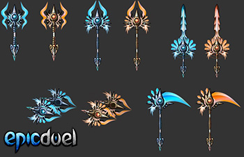 EpicDuel_Browser_PVP_MMO_Bidoof_artist_Showcase_Weapons