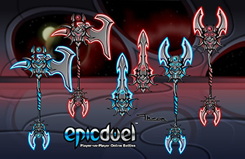 EpicDuel_Browser_PVP_MMO_Dragonoid_Saga_2_Weapons
