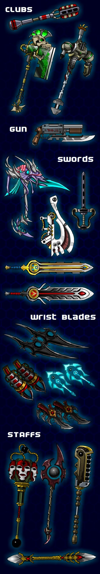 WEAPONS!