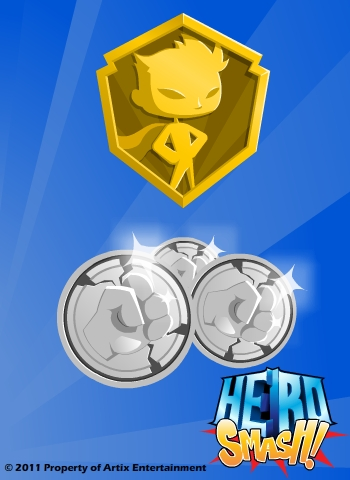 HeroSmash Member and SmashCoin Logo